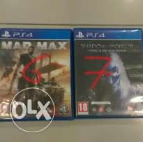 للبيع mad max و shadow of mordor