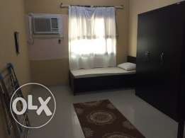 semi furnished room for rent with attached bathroom.