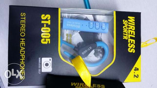 Wireless Sports Headphones Supports Camers as well