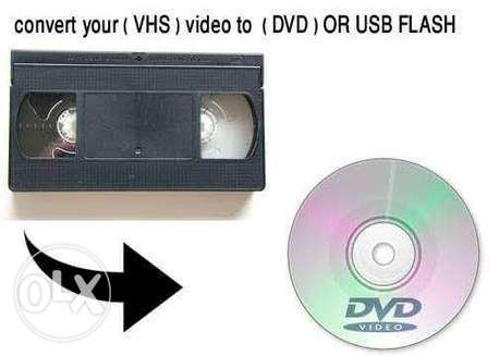 Save Your Old Memory Convert VHS Cassette to DVD or USB flash