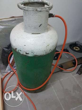 Gas cylinder with gas and Stove
