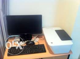 dell LCD & keyboard & mouse + Hp printer