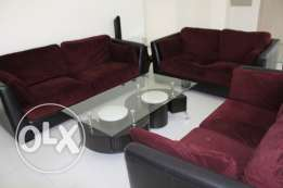 Living Room Set (3 piece sofa, 3 tables tv unit)