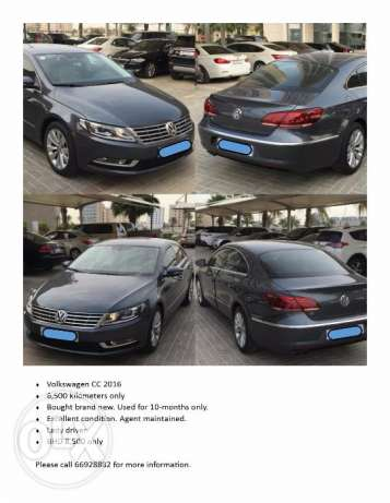 Volkswagen CC 2016 For Sale - Used 10-months only