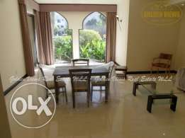 3 Bedroom semi furnished villa for rent in Adliya - all inclusive