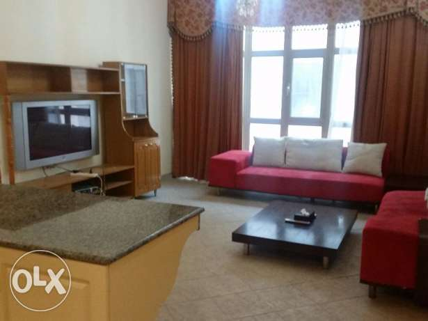 Two bedroom fully furnished apartment in Sanabis, close to malls