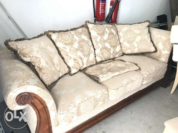 Sofa 7 seats with dining table and 6 chairs