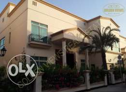 5 Bedroom semi furnished villa for rent private pool,play area