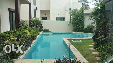 modern semi furnished villa with private pool جانبية -  3