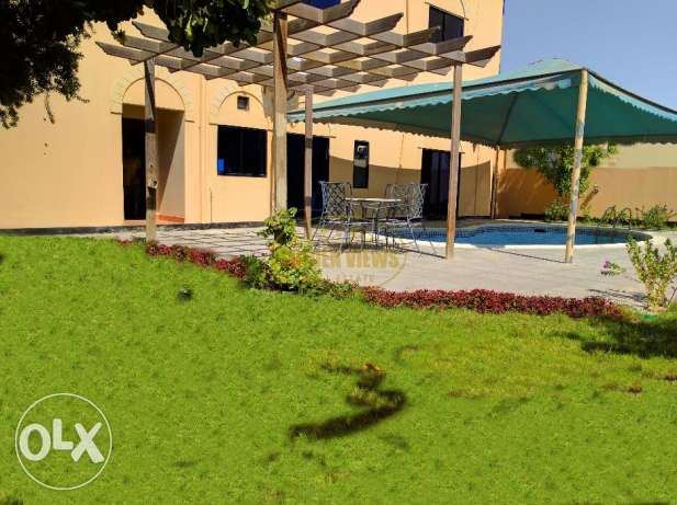 6 Bedroom semi furnished villa with garden & private pool -