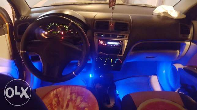 LED light Car interior foot rest front and back 4 side with own switch