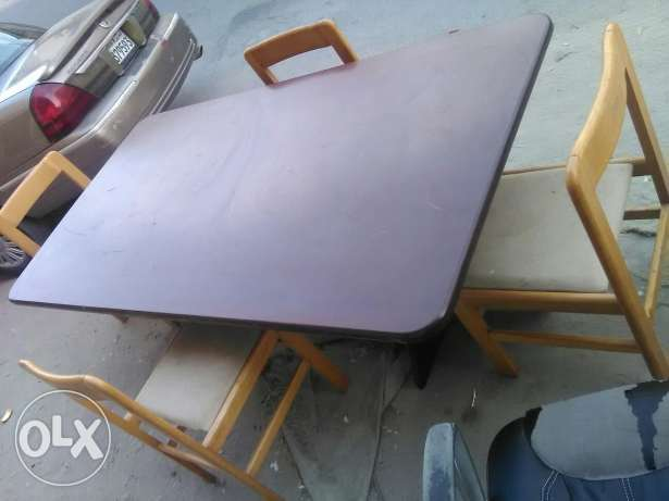 Big dining table 8 chair