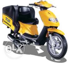 """TGB Express Delivery Bike with 150 Ltr. Top Box:"
