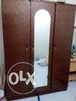 3 door wooden wardrobe for sale