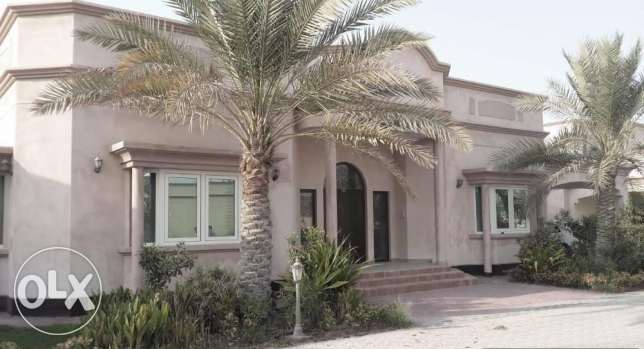 4 Bedroom semi furnished villa for rent in Saar,pool,gym
