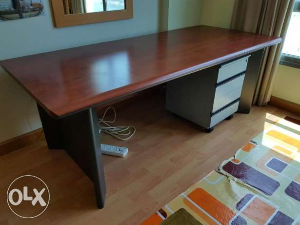 Writing Desk, drawer trolley and chair