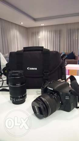 Canon 600D with 18-55mm and 55-250mm lenses and more
