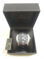 New Aigner original swiss made for men's black belt and black dial.