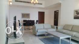 Sea view and balcony new 2 bedrooms flat for rent in Juffair