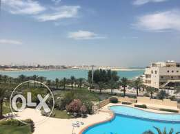 Luxurious 1&haff bedrooms apartment semi furnished with pool & sea vie