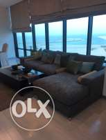 two bedrooms fully furnished sea view for rent now