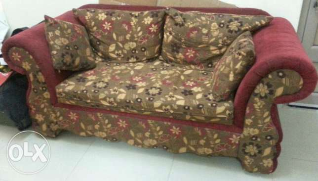 Wooden Sofa 2 seater 20 BHD
