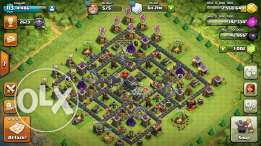 clash of clan th9 maxed up