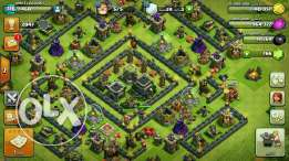 clash of clans th 9 max اكونت