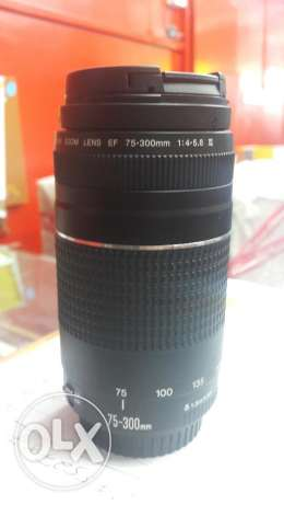 3canon EF 75-300mm lens for swapping