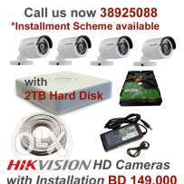 CCTV Installation at lowest price HD 4CH BD 149.000 only