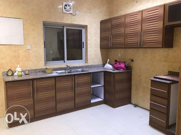 semi furnished room with attached bathroom for rent
