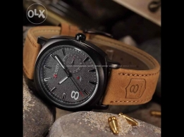 NEW Sport Watche Men Military Leather Strap for sale