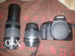 Canon 550d 18mp 2lens