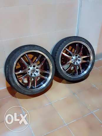 17 inch allow wheels and with new tires for all types of cars