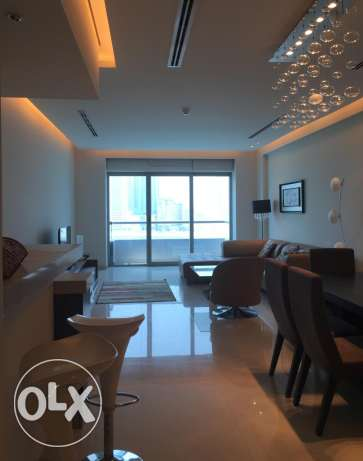 seef sea view fully furnitured 2 br apartment in reef island