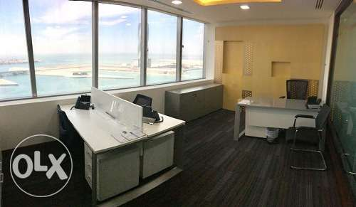 Full fitted Stunning SeaView office at BAH WORLD TRADE CEN BD.850 Inc