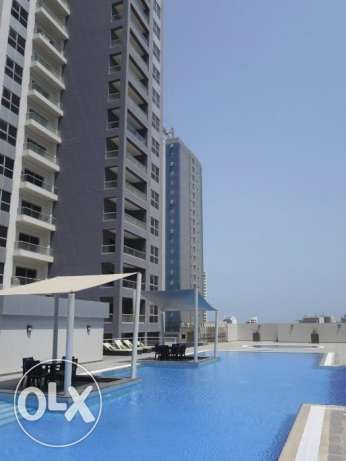 Furnished 2 bedrooms flat with big balcony for sale at Amwaj .
