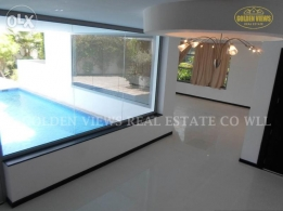 4 Bedroom semi furnished villa with garden,pool all inclusive