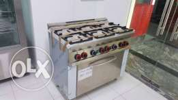 6 burner cooking range gas