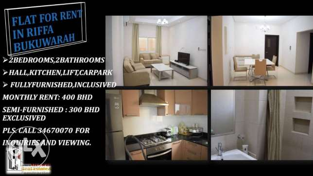 Flat for rent in Riffa Bukuwarah