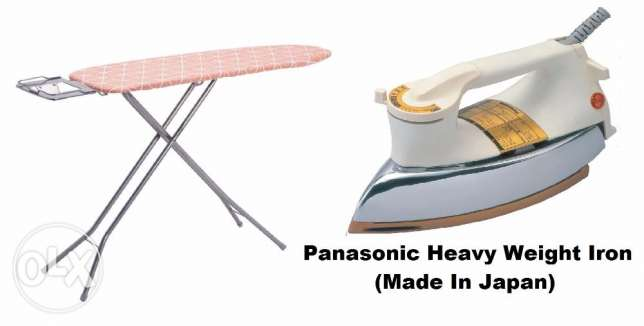Iron Panasonic Original Heavy duty Made in Japan and Ironing stand