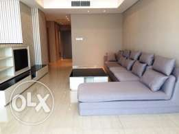 contemporary style big 2 bedrooms furnished with maid's room