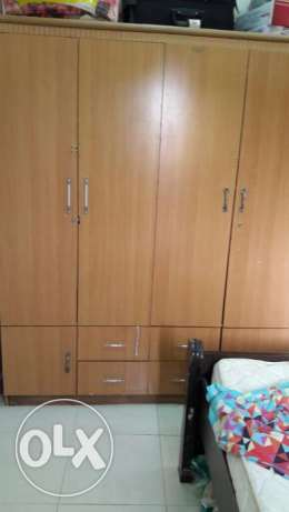 Very Good Condition of King Size Bad , Single Bad & Cupboard For Sale