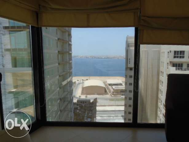 Sea view flat for BD500 in Juffair .