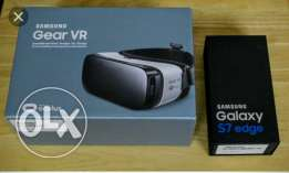 New galaxy S 7 edge 32 gold plus Gear VR