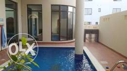 modern semi furnished villa for sale with private pool close to KSA