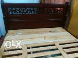 King size bed Bahrain wood