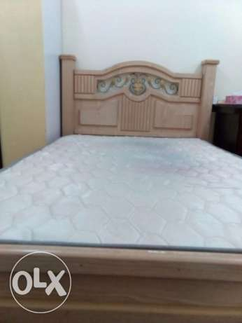 bed with a Mattress in a good condition only at 25BD