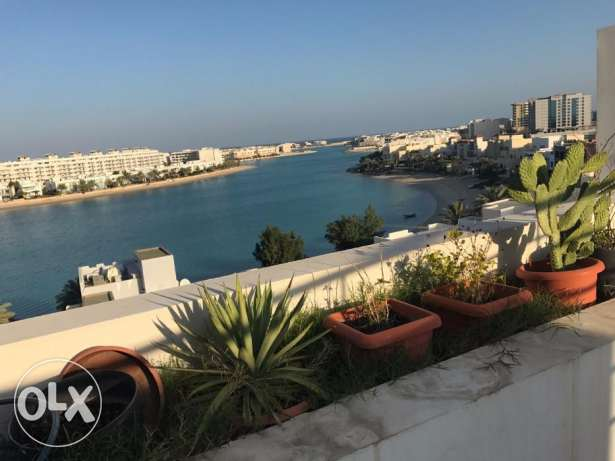 In Amwaj duplex sea view flat, 2 BHR