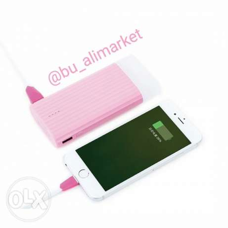 For sale power bank 10000 mah 2 USB port led light